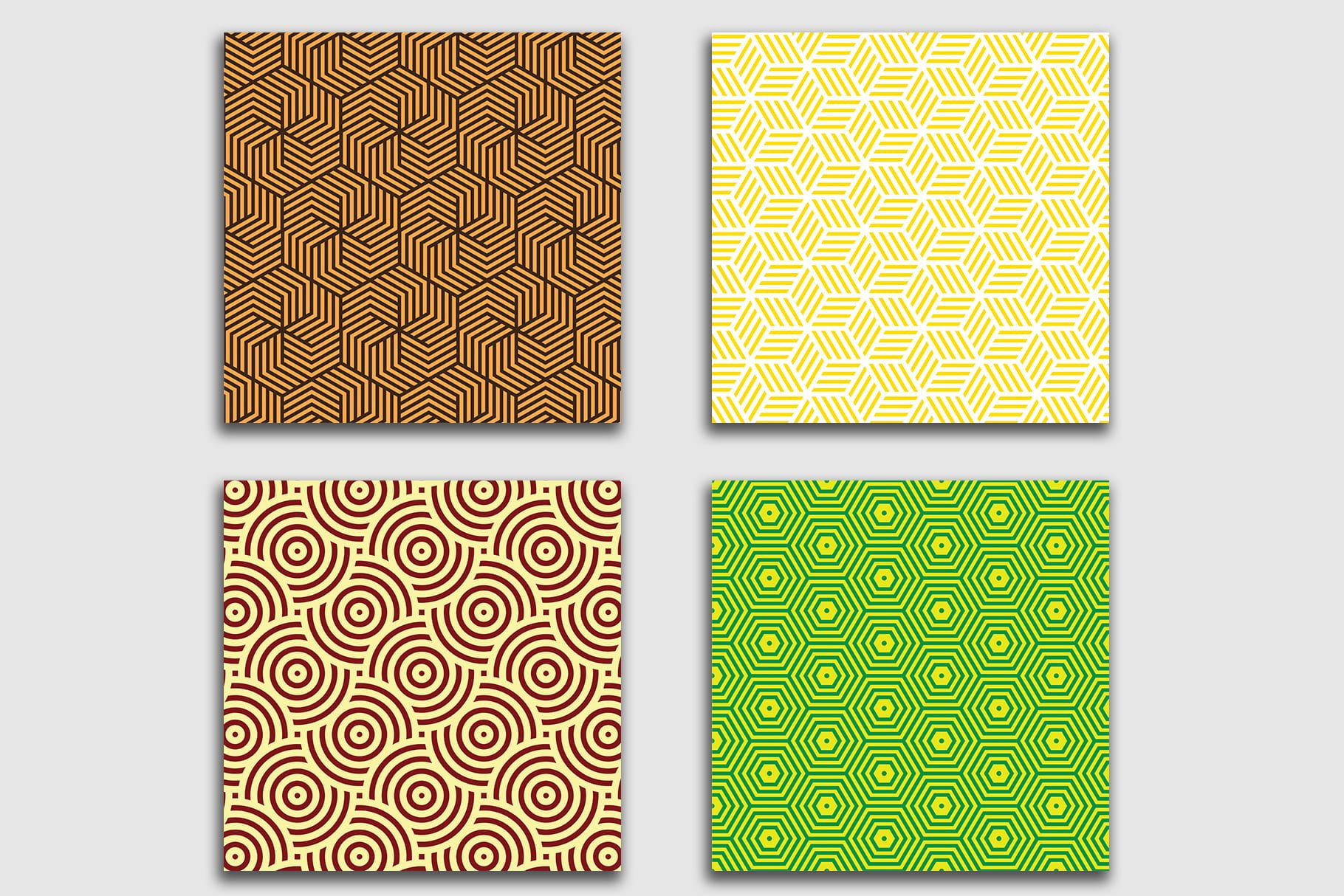 Stylish tiles with geometric print. Both bright colors and delicate ones are presented here.