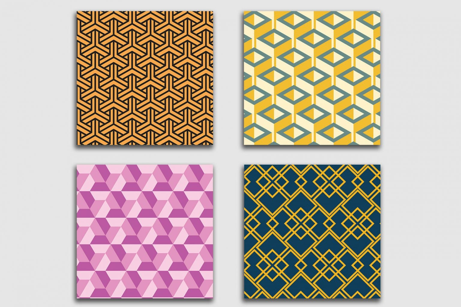 Hand Drawn Scribbles Colorful Seamless Patterns