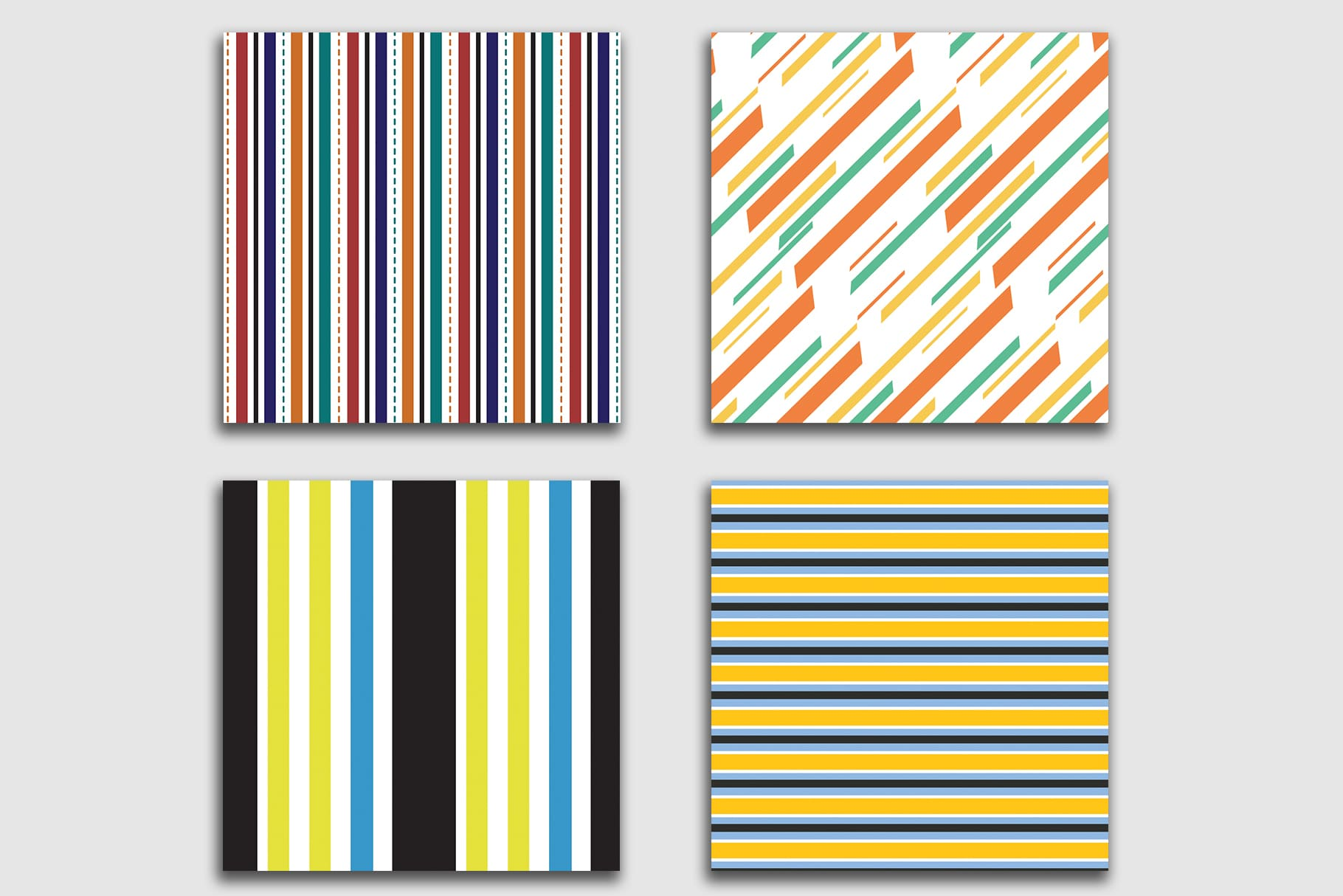 Stylish and modern linear print.
