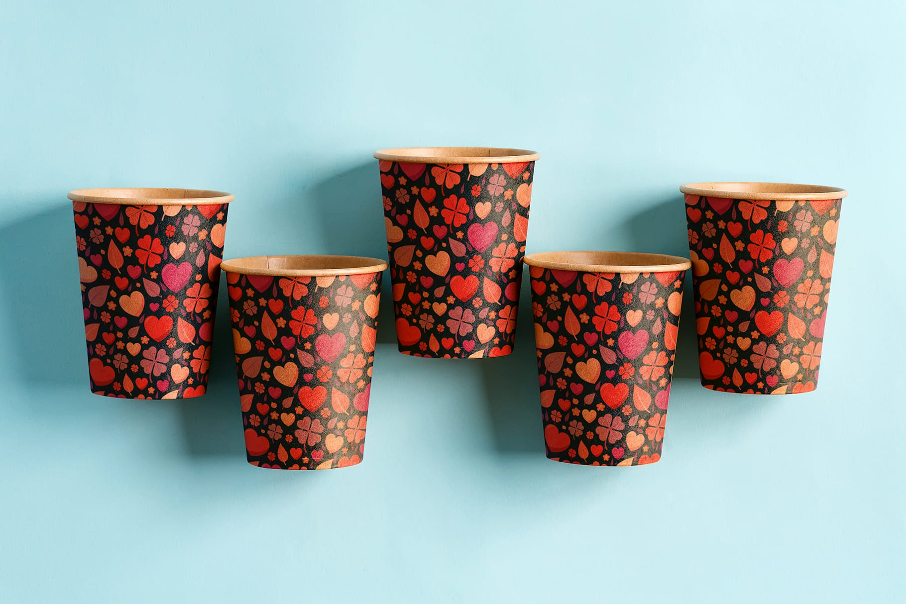 Disposable cardboard cups. About nature with love.