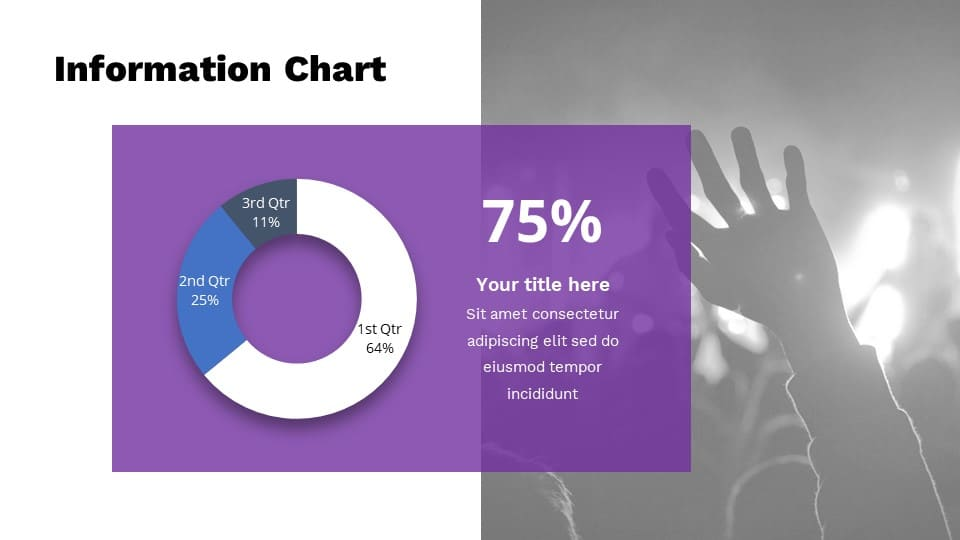 Infographics will make your presentation more modern and understandable.