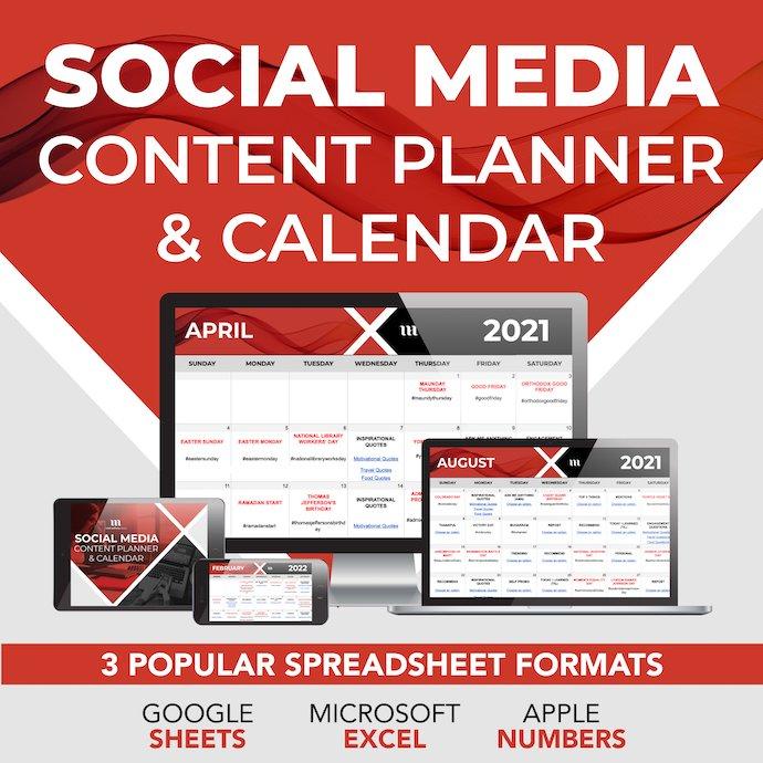 Social Media Calendar.