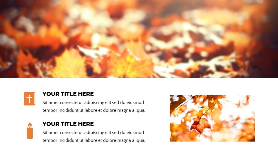 Gold - Free Fall Autumn Worship Powerpoint Background.