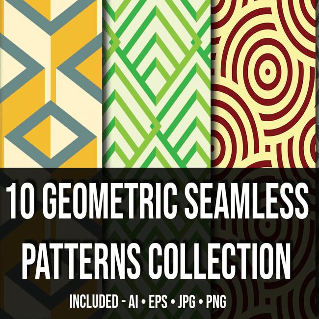 Geometric Seamless Patterns Collection_Main