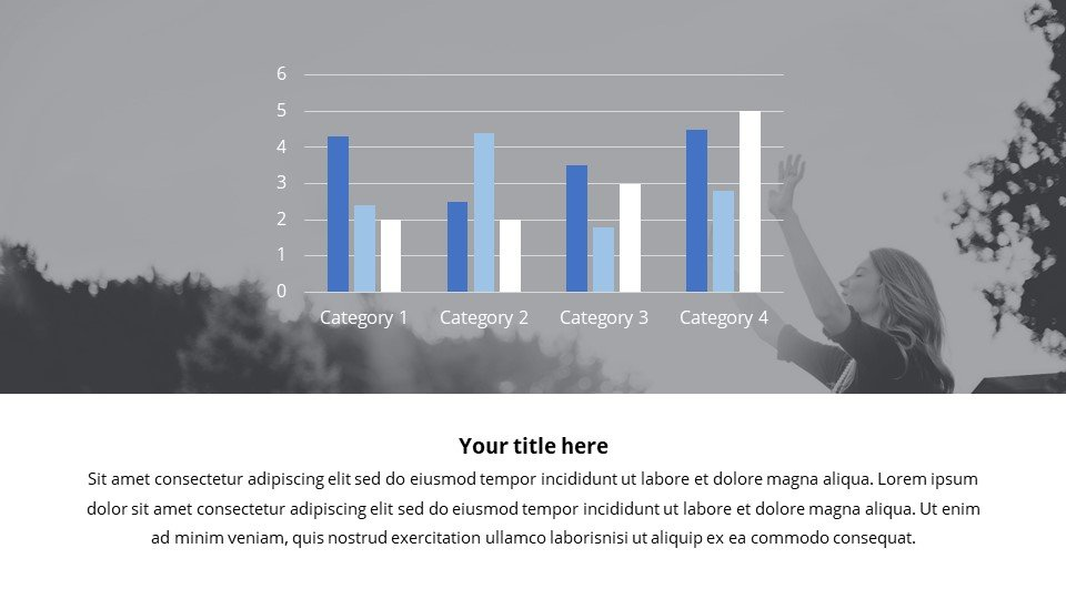 The presentation has a flexible design and an abundance of information presentation. You can place the material both in a text box and in an infographic.