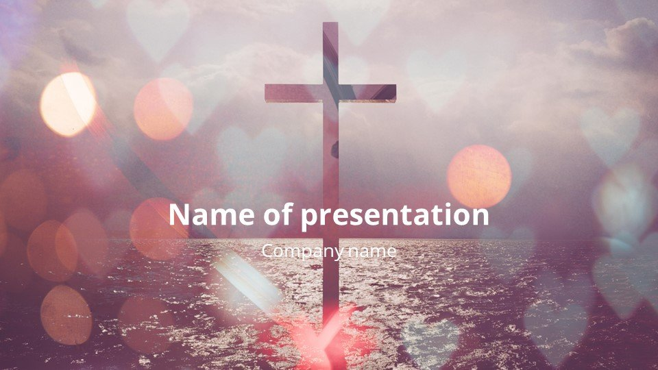First (title) slide. Enlightenment - Free Heart of Worship Powerpoint Background.