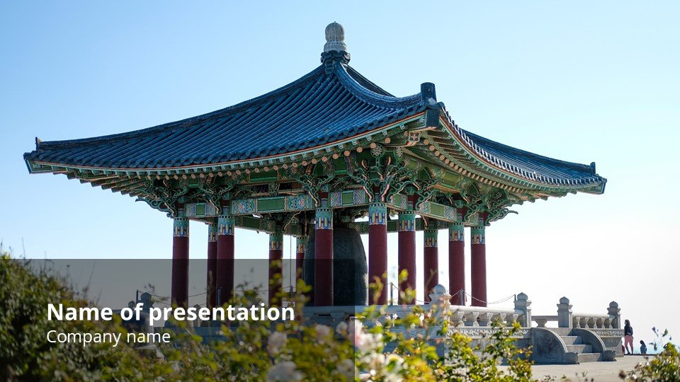 This is such a beautiful template.Korean - Free Korean Worship Powerpoint Background.
