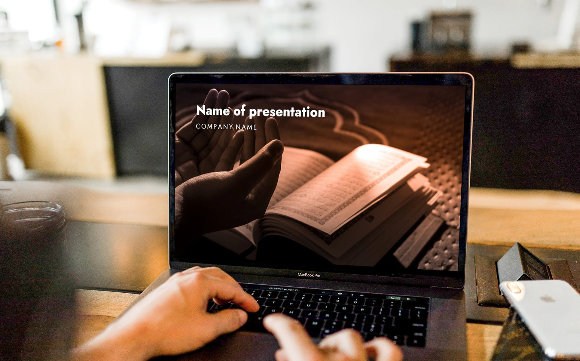 laity sunday worship powerpoint background_A laptop with the first slide of the presentation