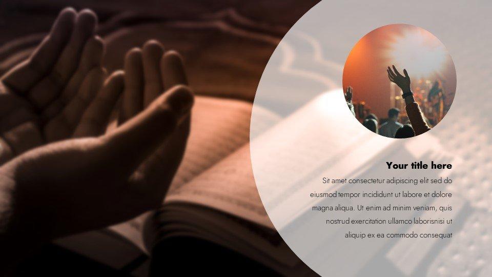 Prayer - Free Laity Sunday Worship Powerpoint Background.