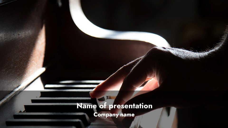 This is such a beautiful template.Sound - Free Piano Worship Powerpoint Background.