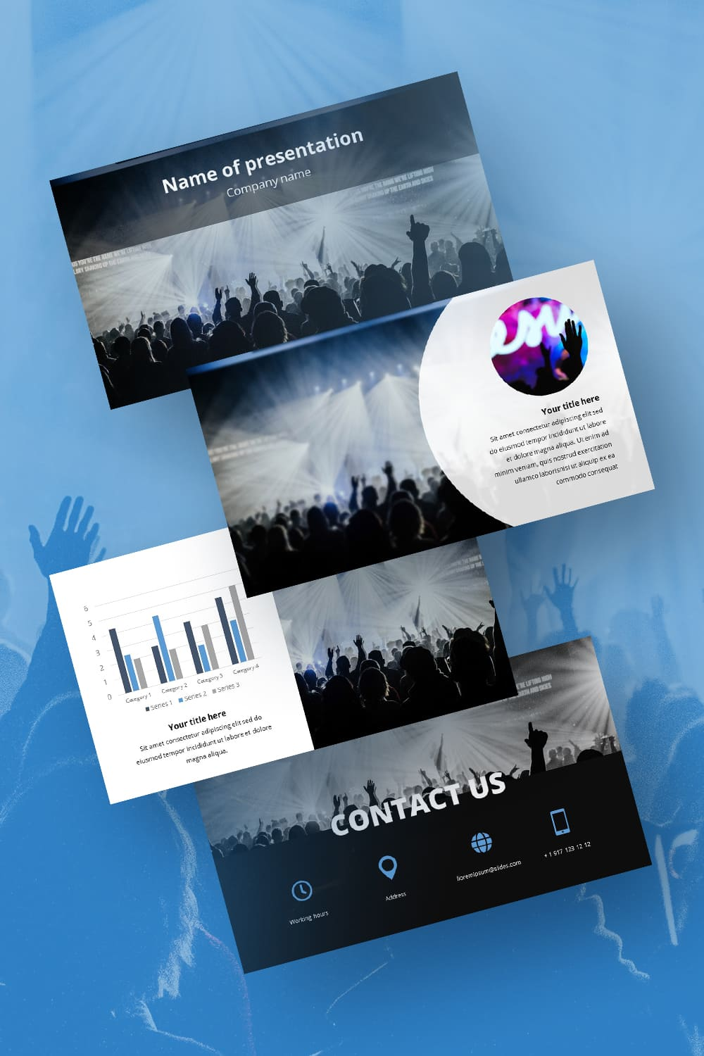 Free Background Worship Music for Powerpoint. Emotionally filled template. It attracts with its brightness and energy.
