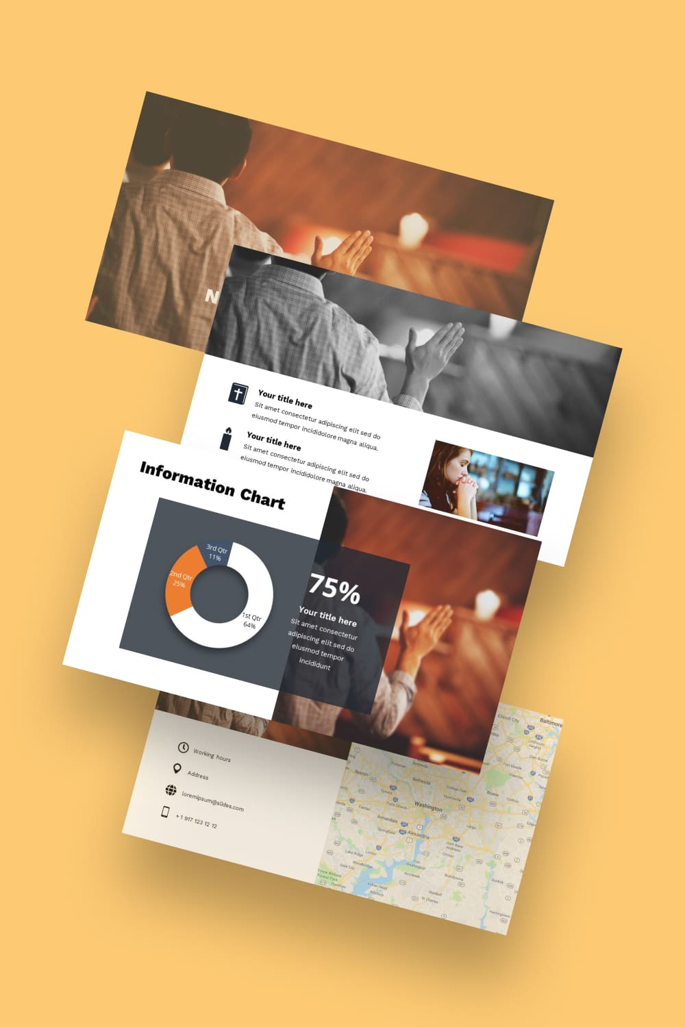 Come Join Us Free Worship Powerpoint Background. Template for ministry in warm autumn colors.