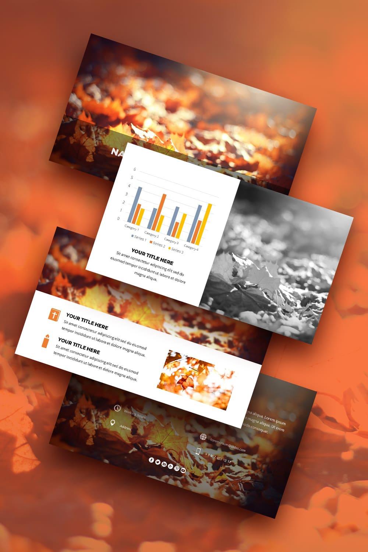 Pinterest-  Free Fall Autumn Worship Powerpoint Background.