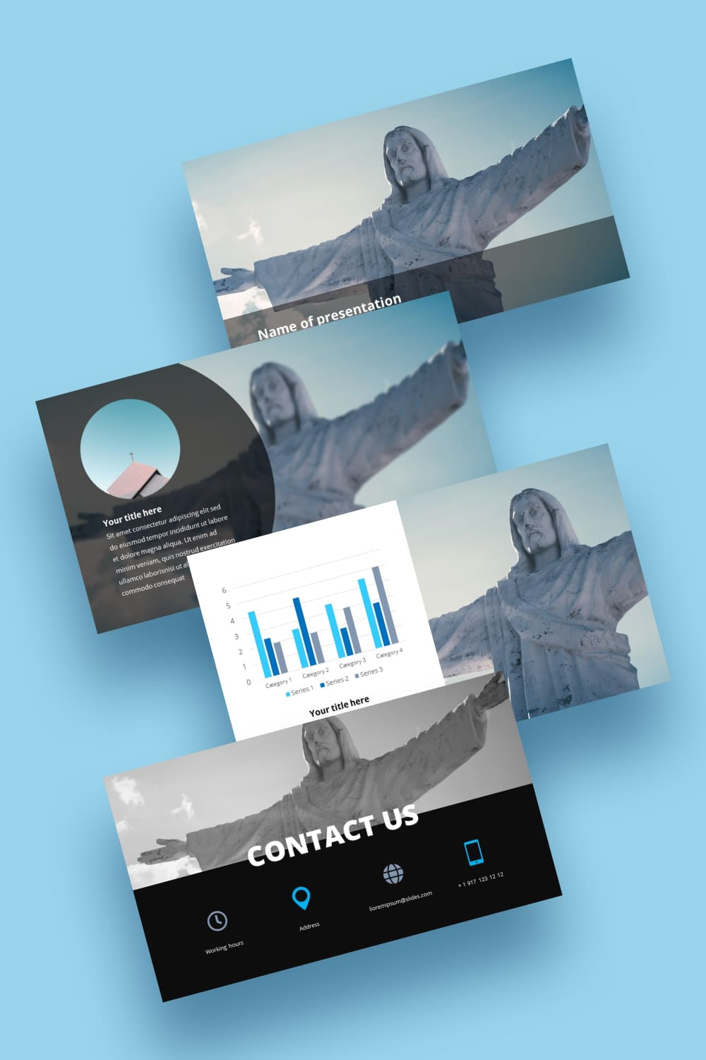 This template is similar to the statue of Christ the Redeemer in Rio. She is free and majestic. With this template, your presentation will take on new colors and meaning.