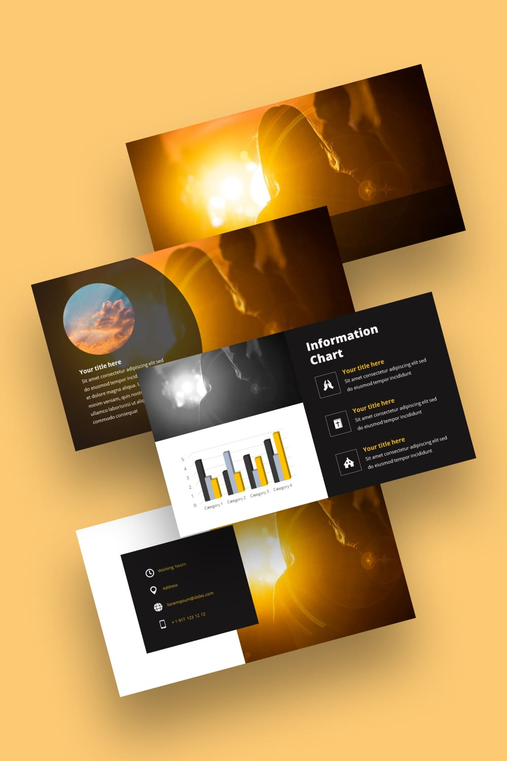 Free Powerpoint Background Worship Light. Great bright and colorful template.