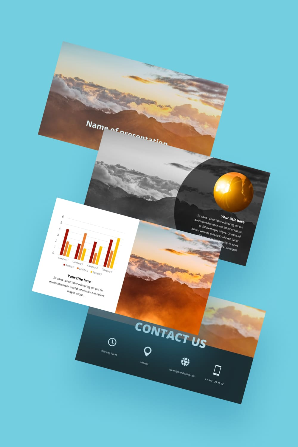 The brightness and dynamism of this template is attractive. The design is simple yet modern, which makes it possible to use it for different themes.
