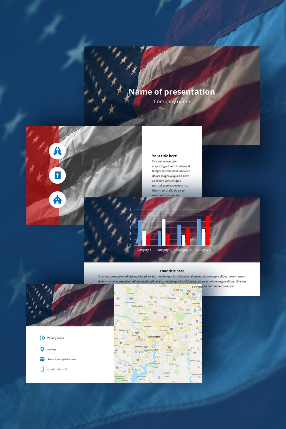 Free Worship Powerpoint Background Veterans. Bright and unique template.
