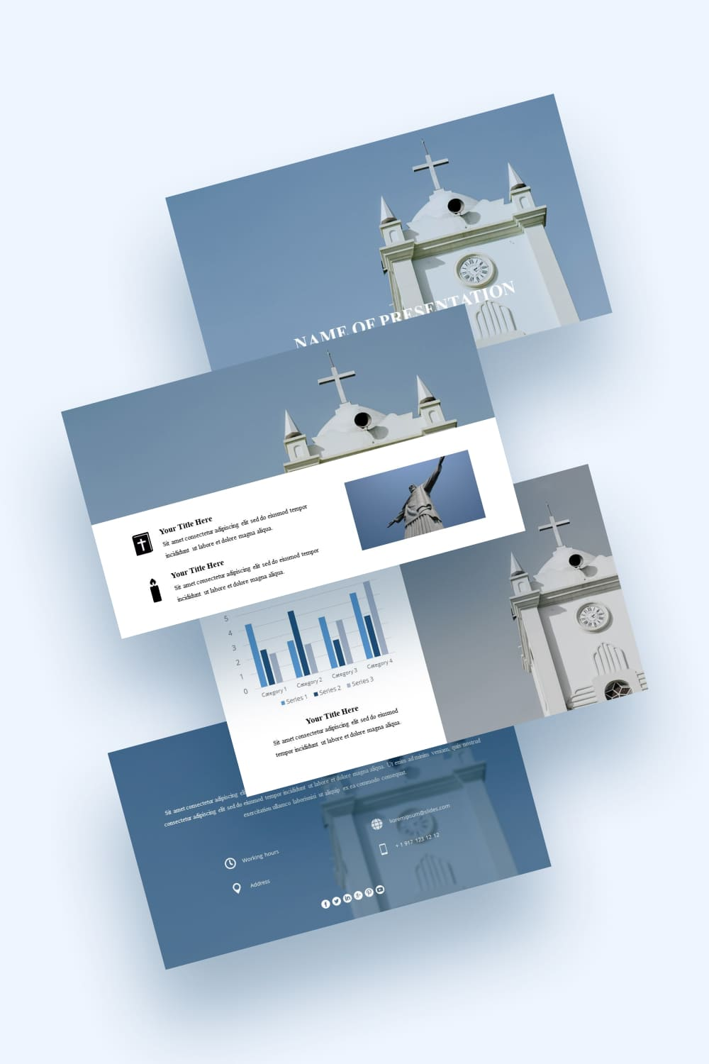 The freedom of this template is mesmerizing. Through it, you can convey any information to your audience with ease.
