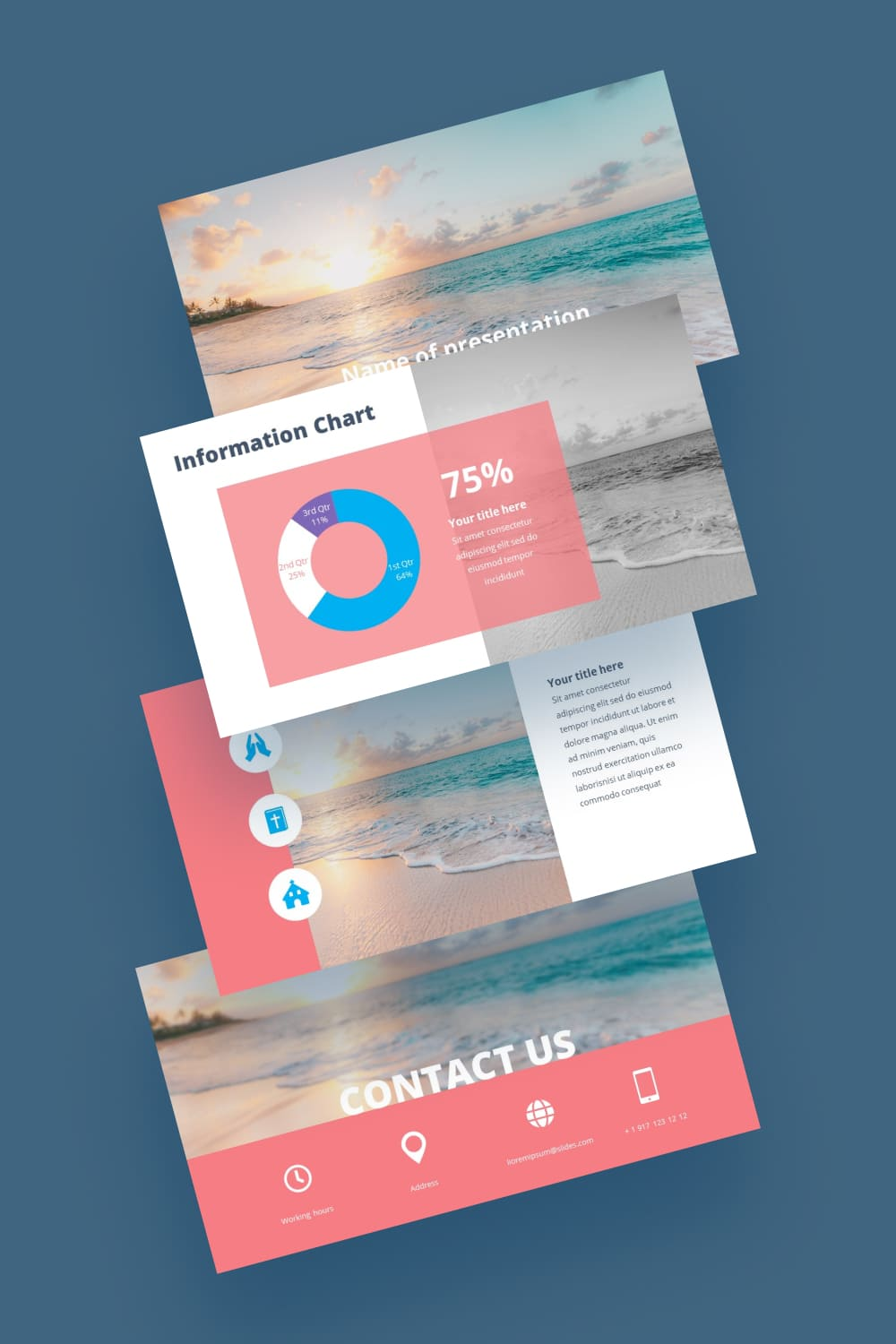 Free Summer Powerpoint Worship Background. Delicate pattern in pastel colors. It seems to calm down on its waves.