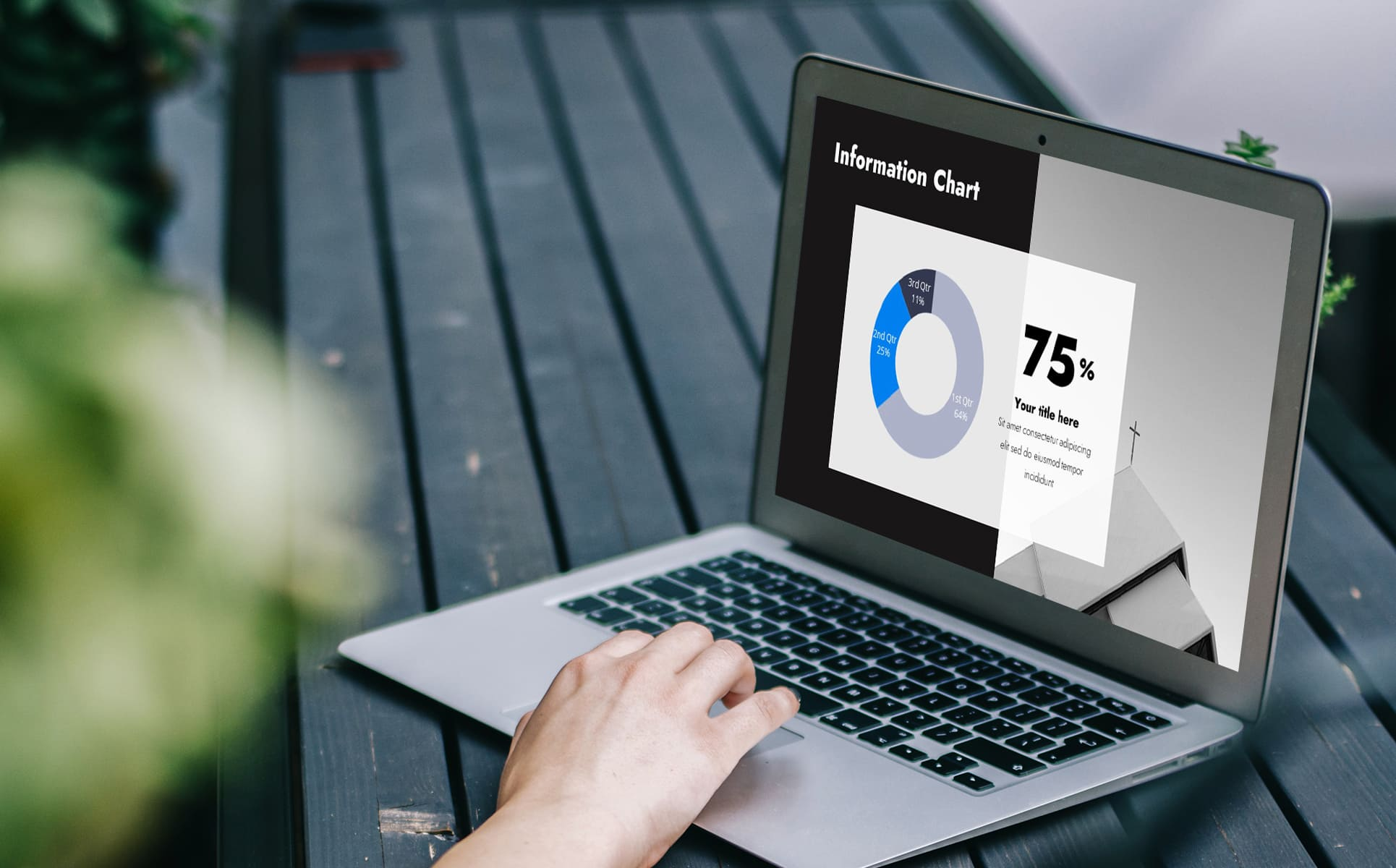 powerpoint background christian tithing sunday worship - laptop with an infographic