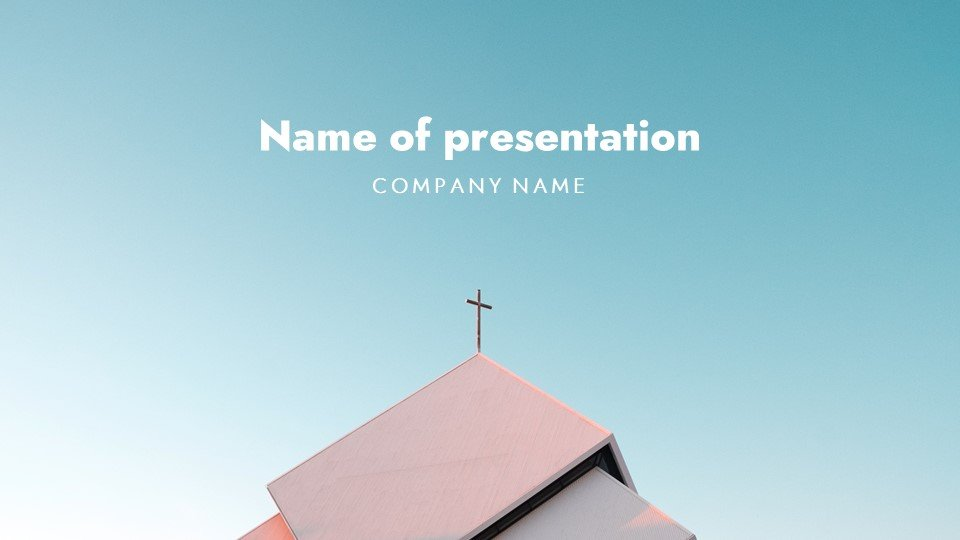 Laconic template with delicate colors. Free Powerpoint Background Christian Tithing Sunday Worship.