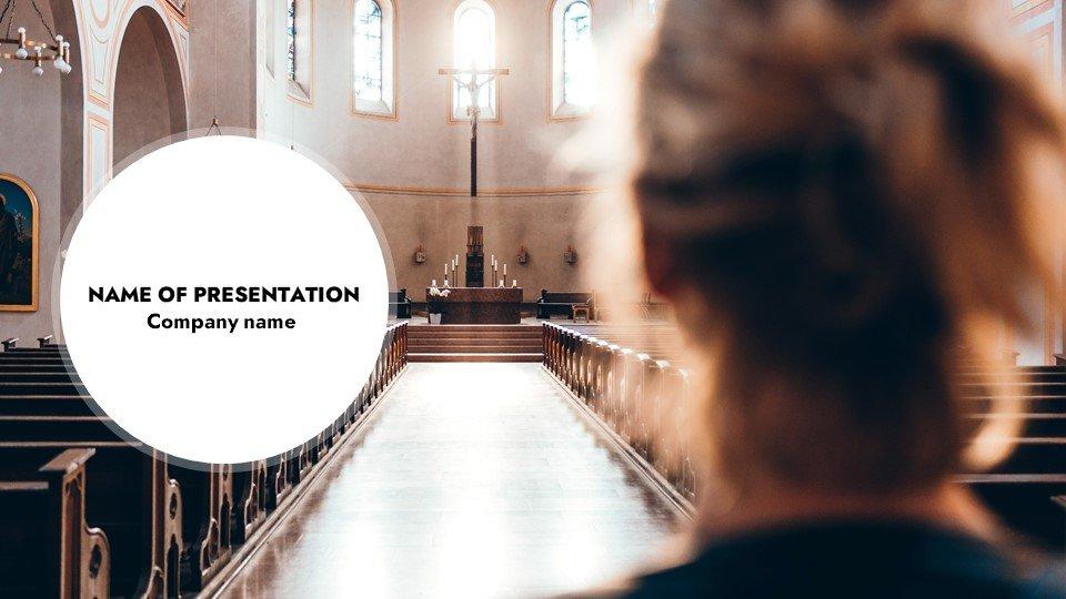 Path - Free Powerpoint Background Christians Contribution Sunday Worship.