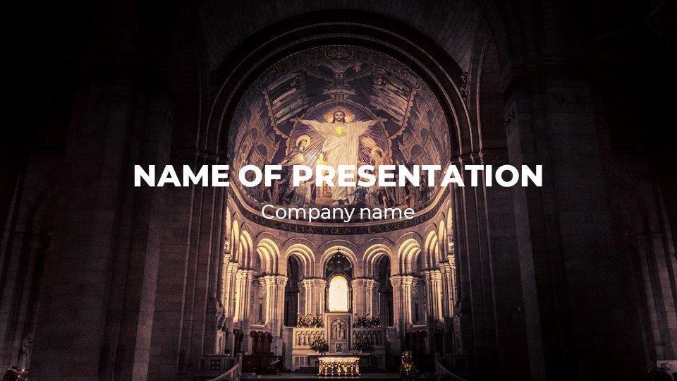 Spirit - Free Powerpoint Background Christians Giving Sunday Worship.