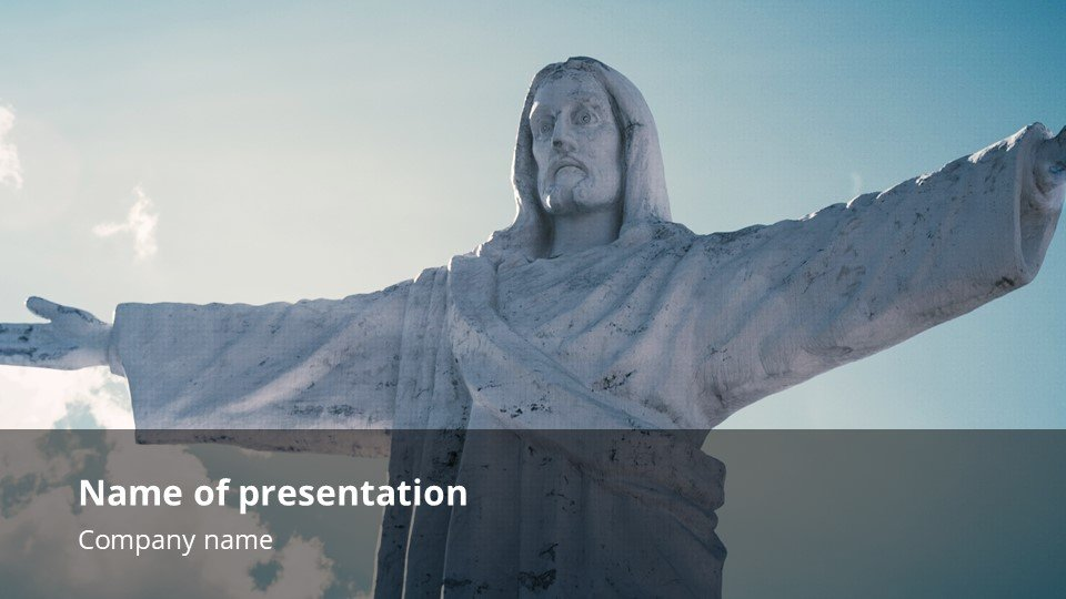 This is an incredibly powerful template. It's simple and minimalistic. Powerpoint Background for Worship the King.
