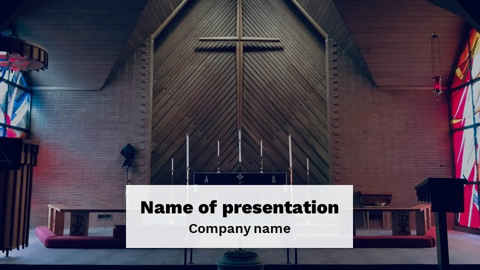 Sanctuary - Free Powerpoint Background Worship Church.