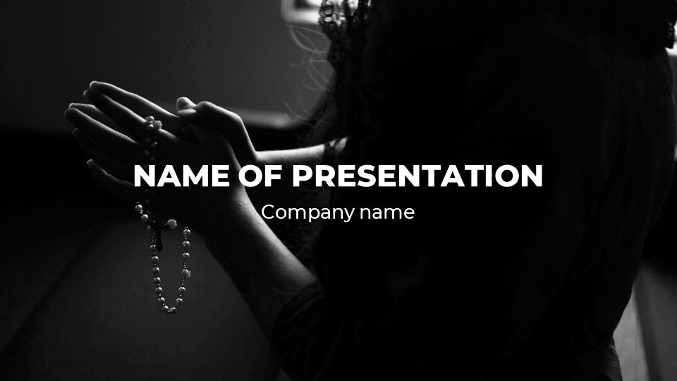 This is such a beautiful template.Shade - Free Powerpoint Background Worship Dark.