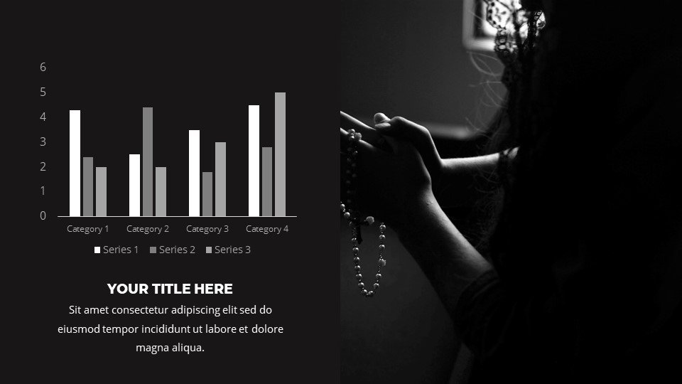 You can place the material both in a text box and in an infographic. Shade - Free Powerpoint Background Worship Dark.