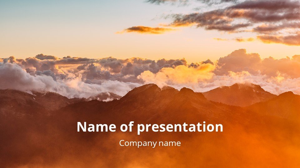 This is such a beautiful template.Expectation - Free Powerpoint One Animated Background Church Worship.