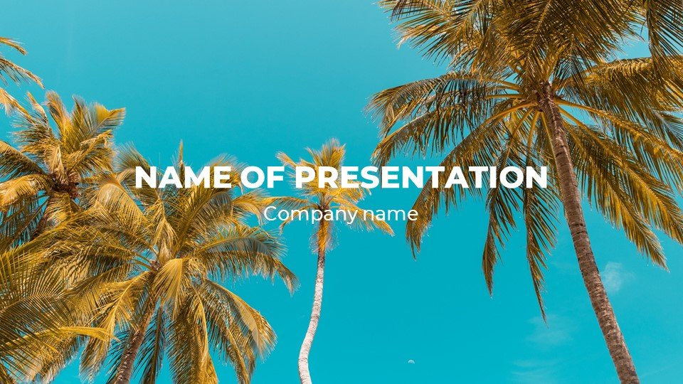This is a sun-soaked vitamin D template. Free Powerpoint Summer Welcome Worship Background.