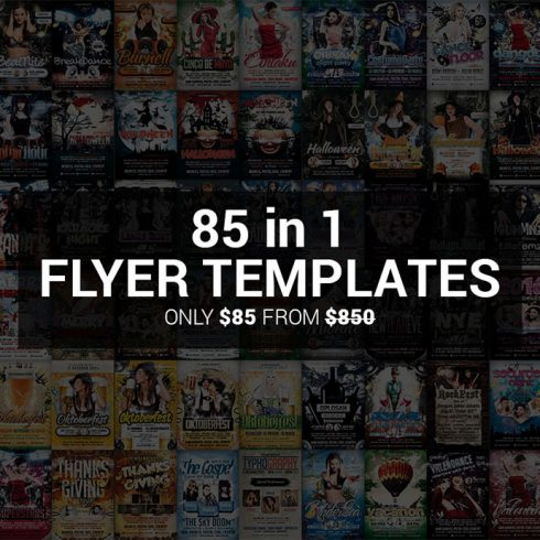 85 in 1 Flyer Templates.