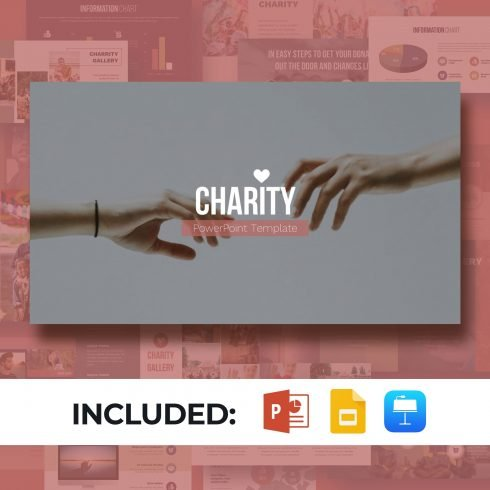 Charity Presentation Template. Main image.