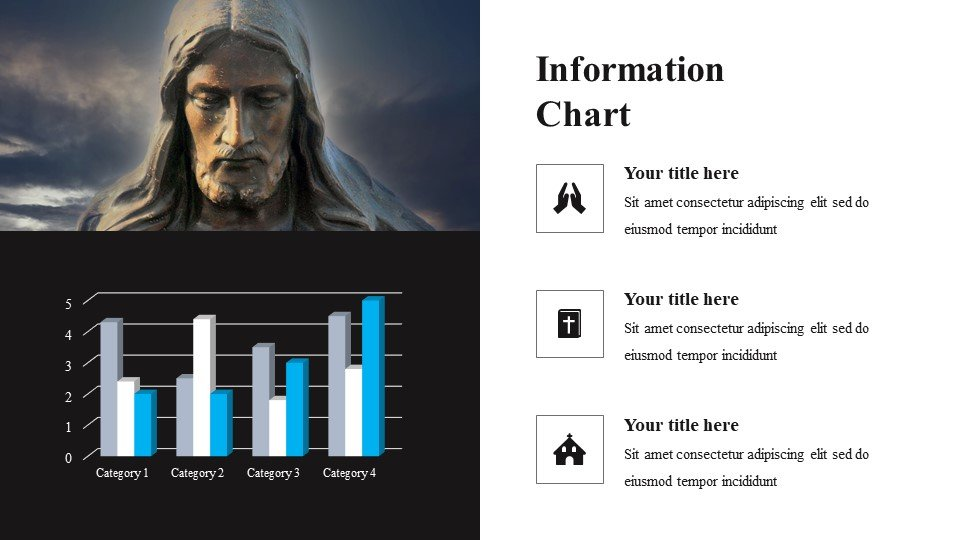 You can place the material both in a text box and in an infographic.Religious - Free Religious Worship Background for Powerpoint.