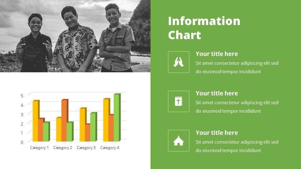You can place the material both in a text box and in an infographic.Asian - Samoan Free Worship Songs Powerpoint Background.