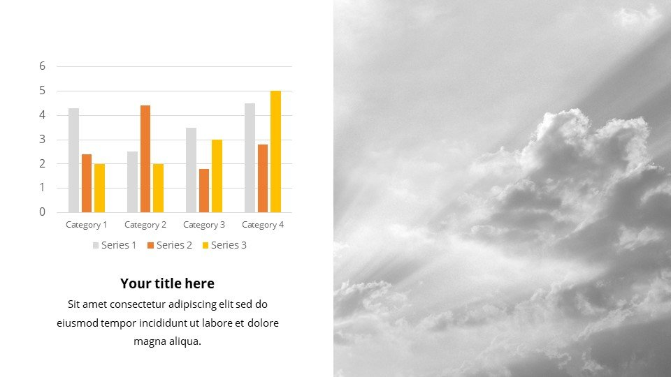 Here you can use both text blocks and classic infographics.