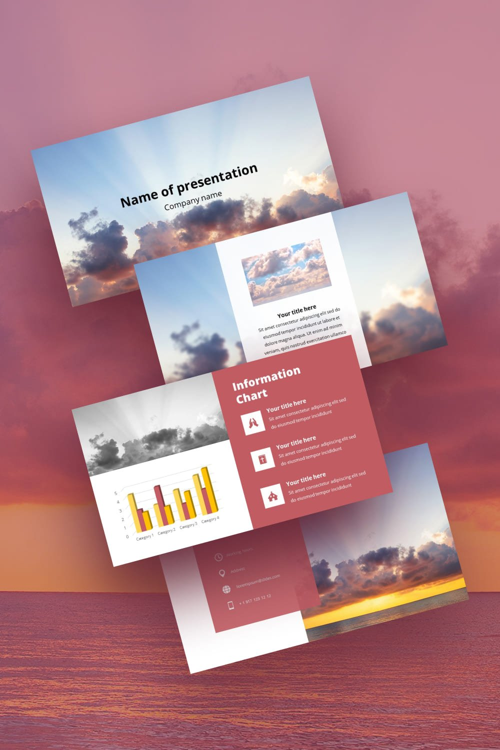 Pinterest.Sunset - Free Simple Worship Powerpoint Background.