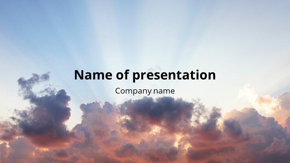 This is such a beautiful template. Sunset - Free Simple Worship Powerpoint Background.