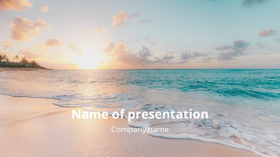 This is such a beautiful template.Flow - Free Summer Powerpoint Worship Background.