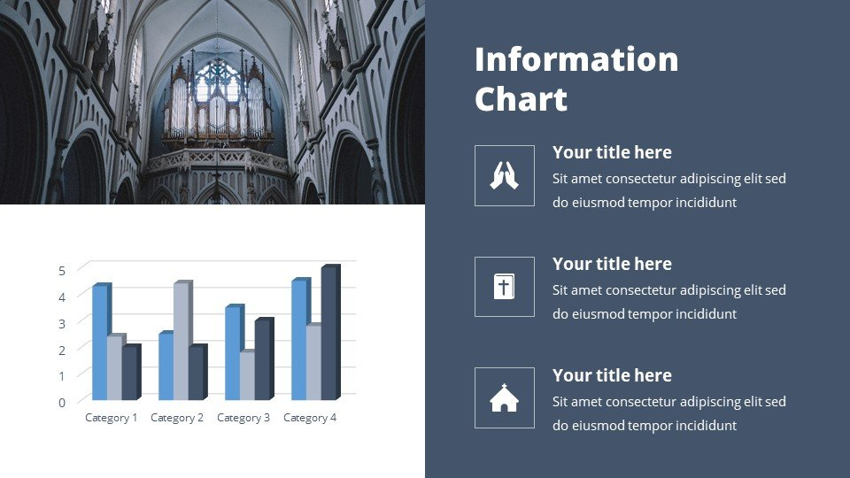 You can place the material both in a text box and in an infographic. Spirituality - Free Tabernacle Worship Powerpoint Background.