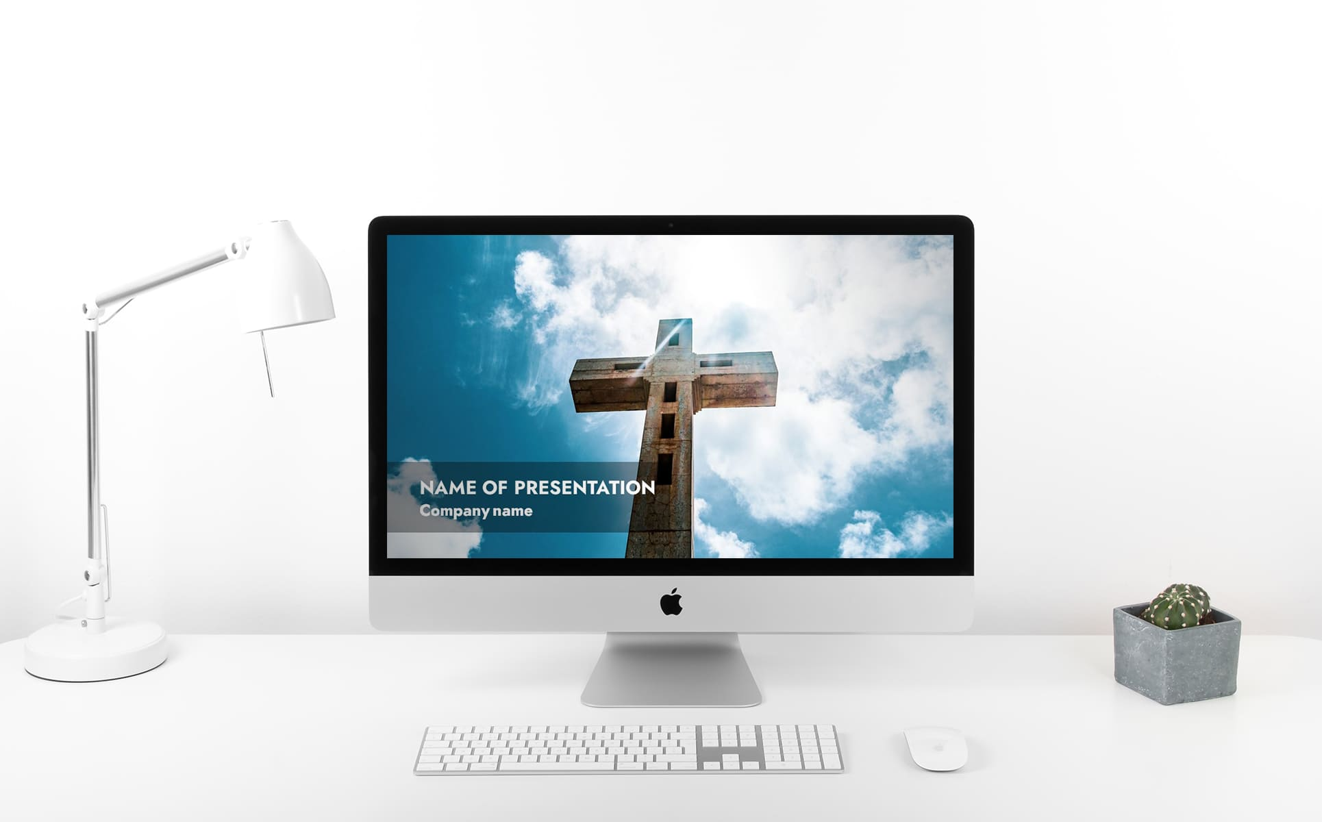 widescreen powerpoint background for worship- A white background with a full screen of the presentation