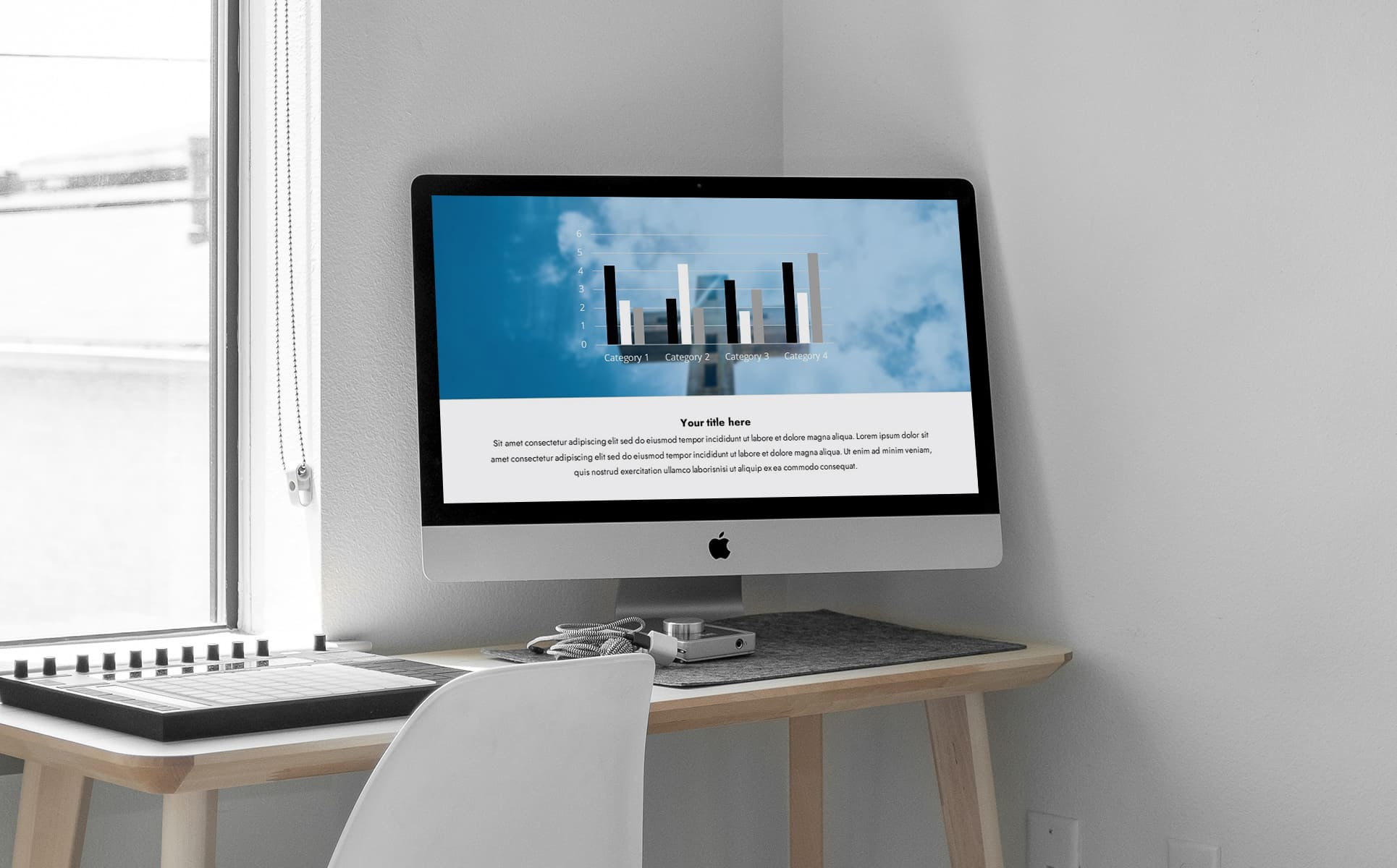 widescreen powerpoint background for worship - A part of the presentation with infographic