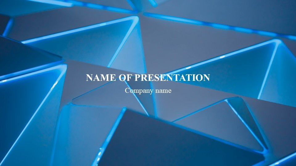 This is such a beautiful template.Abstraction - Free Worship Powerpoint Background Geometric Blue.