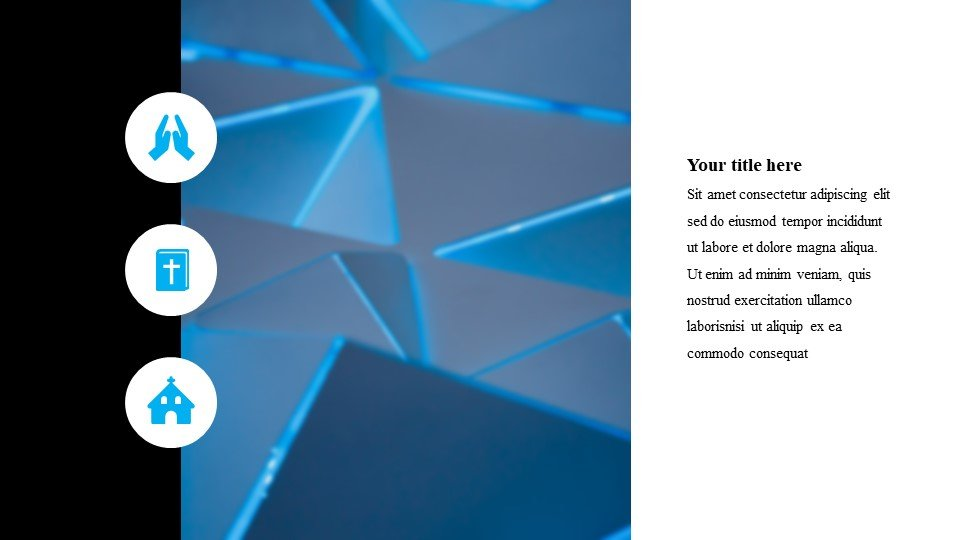 The template will fit any theme. Design flexibility will allow you to display any topic in the best possible light.Abstraction - Free Worship Powerpoint Background Geometric Blue.