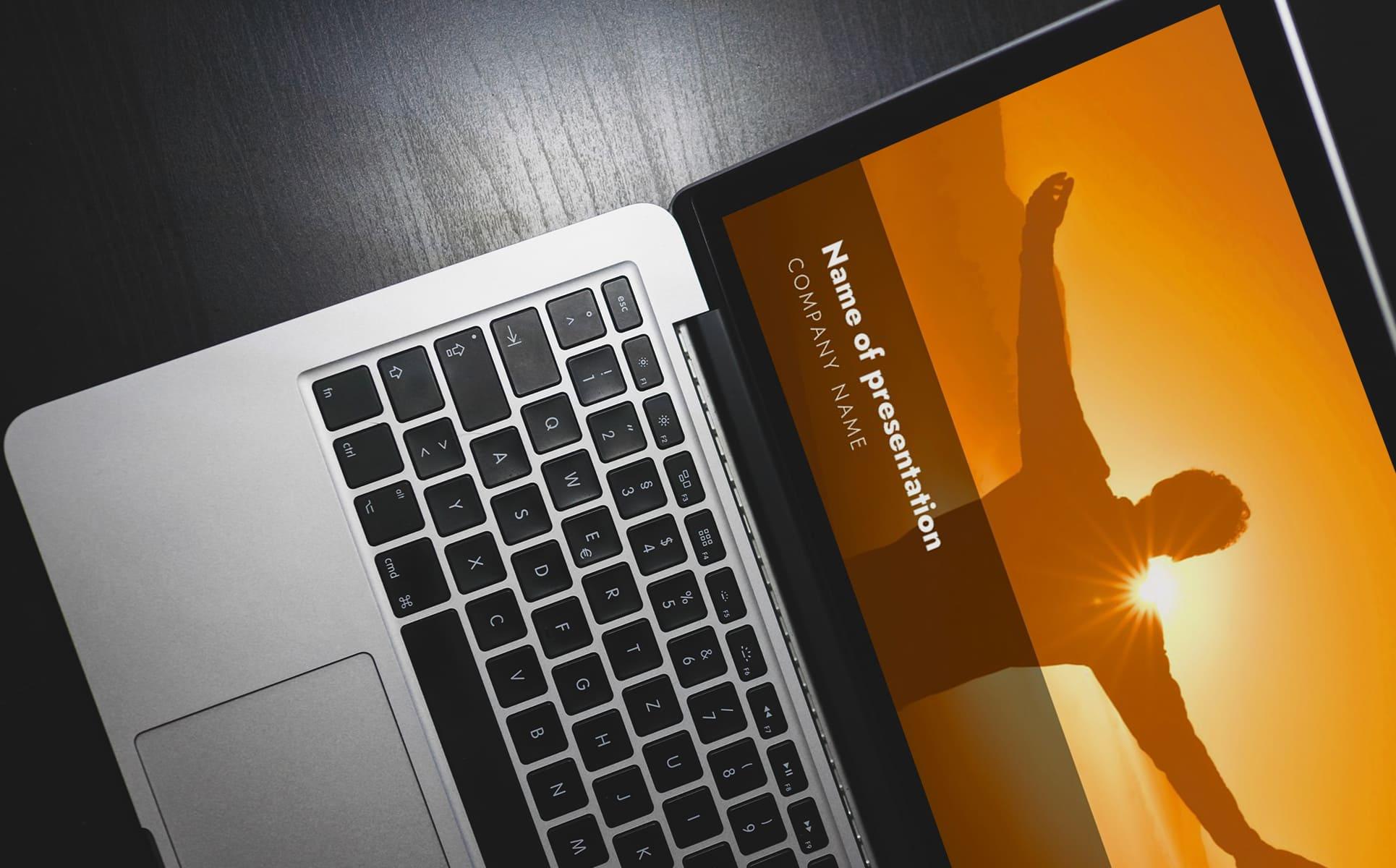 worship powerpoint background orange-1