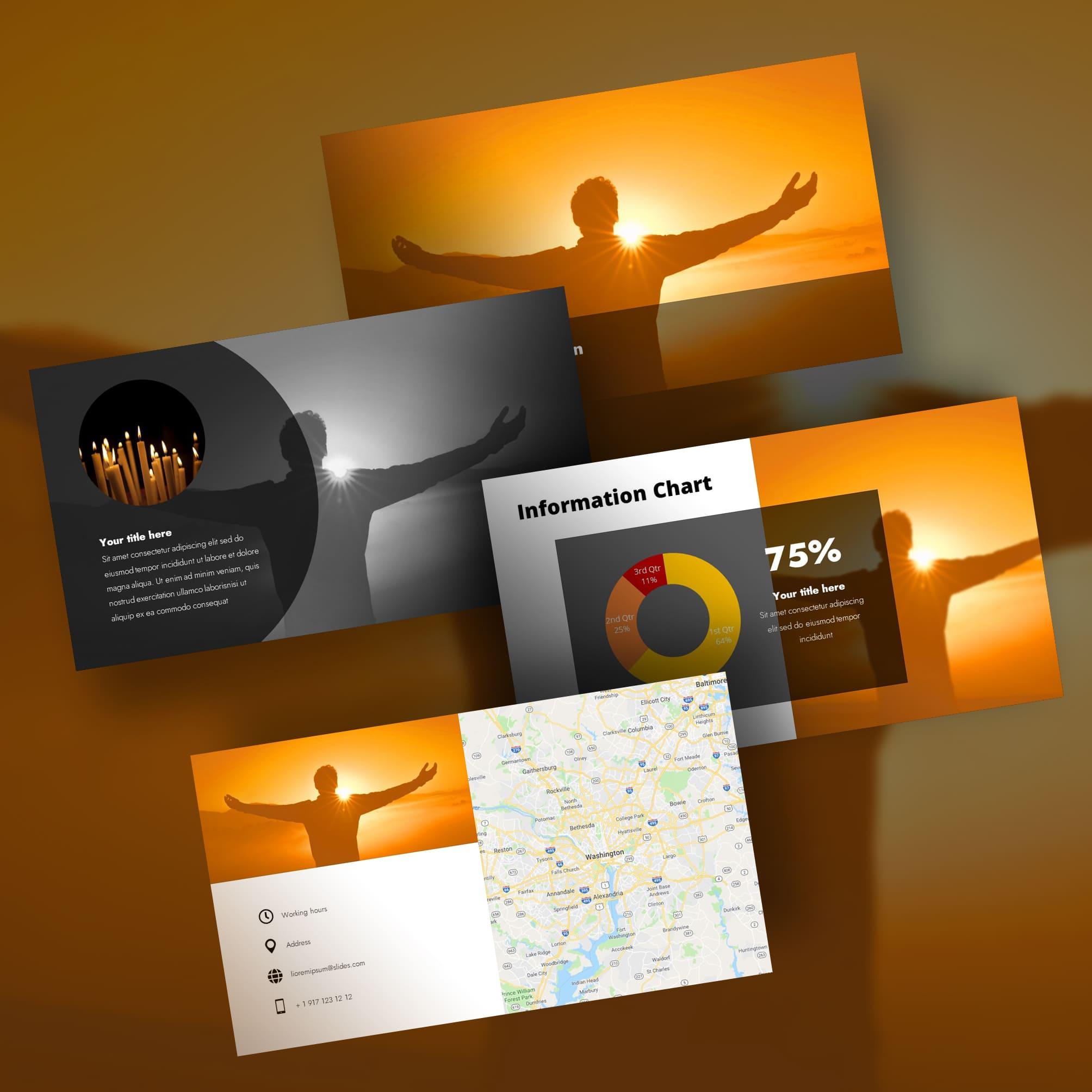 worship powerpoint background orange