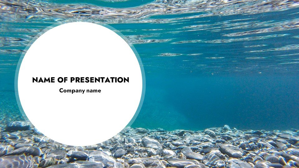 This is such a beautiful template.Blessedness - Free Worship Powerpoint Background Under Water.