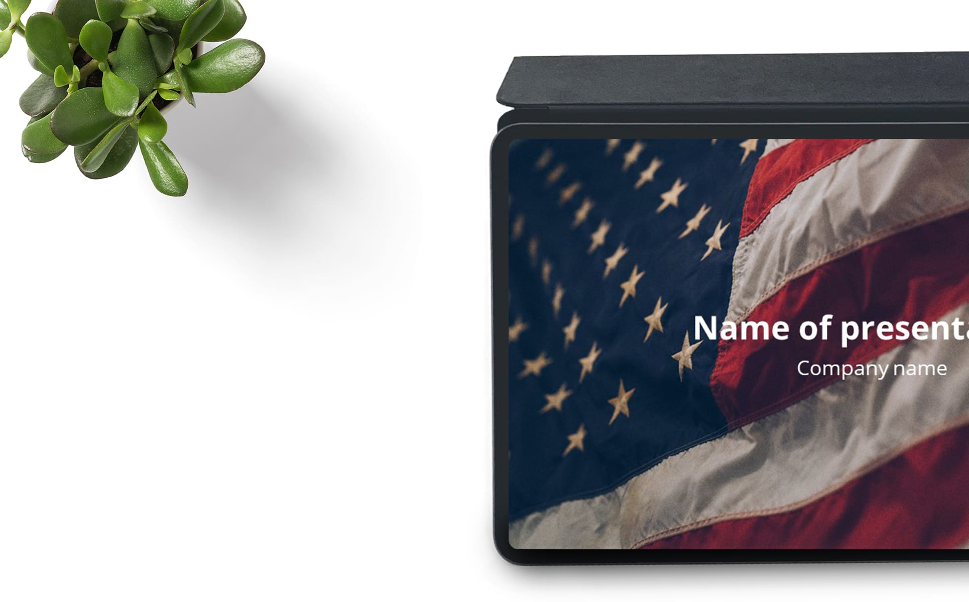 worship powerpoint background veterans-laptop from the top